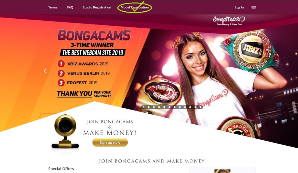 Become a BongaCams Webcam Model
