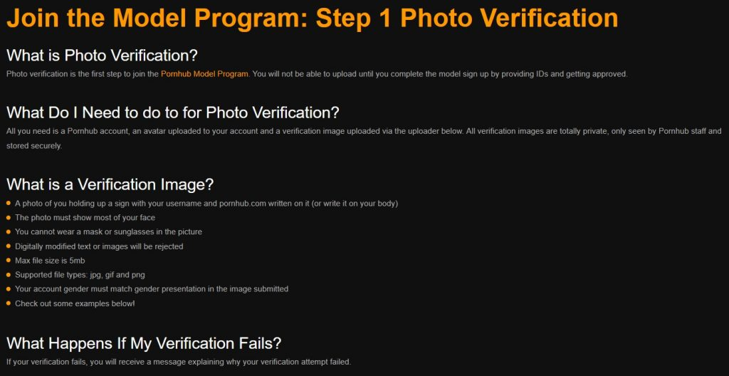 Verification of a model. Making a personal photo